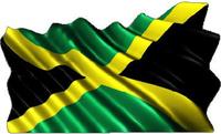 Jamaica Flag Waving Decal / Sticker
