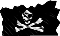 Pirate Flag Waving Decal / Sticker