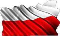 Polish Flag Waving Decal / Sticker