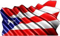 Puerto Rico Flag Waving Decal / Sticker 02