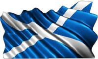 Scotland Flag Waving Decal / Sticker