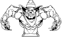 Football Cowboys Mascot Decal / Sticker