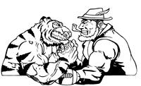 Tiger Arm Wrestling Decal / Sticker