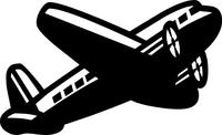 Airplane Decal / Sticker 03