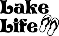 Lake Life Flip-Flops Decal / Sticker 01
