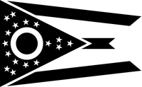 Ohio Flag Decal / Sticker 03