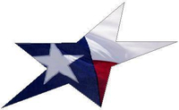 Texas Flag Star Decal / Sticker 06