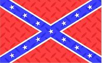 Diamond Plate Rebel / Confederate Flag Decal / Sticker 19