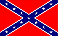 Rebel / Confederate Flag Decal / Sticker 30