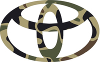 Traditional Brown Camo Toyota Decal / Sticker 01