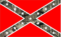 Camouflage Rebel / Confederate Flag Decal / Sticker 53