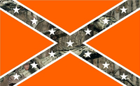 Camouflage Rebel / Confederate Flag Decal / Sticker 54
