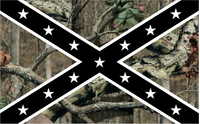 Camouflage Rebel / Confederate Flag Decal / Sticker 55