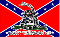 Gadsden Confederate Flag Don't Tread on Me Decal / Sticker 02