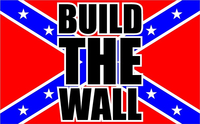 Build The Wall Rebel Flag Decal / Sticker 07