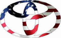 American Flag Toyota Decal / Sticker