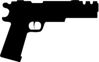1911 Compensated Gun Decal / Sticker