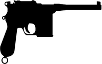 Mauser C96 Gun Decal / Sticker