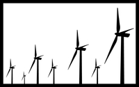 Windmill Decal / Sticker 03