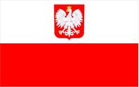 Polish Flag Decal / Sticker 03