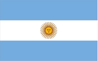 Argentina Flag Decal / Sticker 01