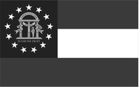 Grayscale Georgia State Flag Decal / Sticker 04