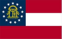 Georgia State Flag Decal / Sticker 05