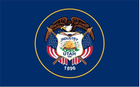Utah State Flag Decal / Sticker 01