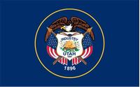 Utah State Flag Decal / Sticker 01