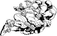 Football Bulldog Mascot Decal / Sticker 05