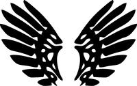 Wings Decal / Sticker 04