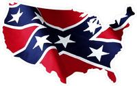 Confederate Flag USA Map Decal / Sticker 07
