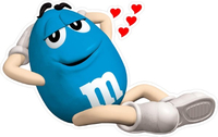 Blue Peanut M&M Decal / Sticker 44
