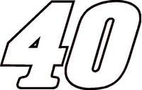 40 Race Number / Sticker OUTLINE