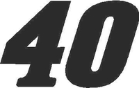 40 Race Number Decal / Sticker SOLID
