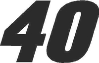 40B Race Number SOLID Decal / Sticker