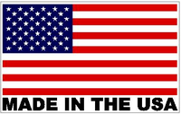 American Flag Made in the USA Decal / Sticker 19