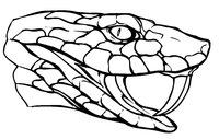 Snakes Mascot Decal / Sticker