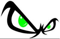 Fear Eyes Decal / Sticker 04