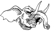 Elephants Mascot Decal / Sticker 3