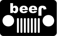 Jeep Style Beer Decal / Sticker 09