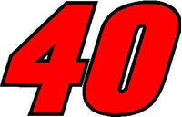40B Race Number 2 Color Decal / Sticker