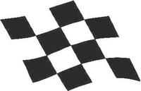 Checkered Flag Decal / Sticker 22