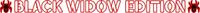 Black Widow Edition Decal / Sticker 07