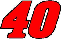 40 Race Number 2 COLOR Decal / Sticker