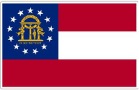 Georgia State Flag Decal / Sticker