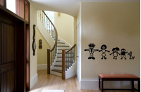 STICK FIGURE WALL DECALS and STICK FIGURE WALL STICKERS
