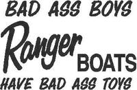 Bad Ass Boys - Ranger Boats Decal / Sticker