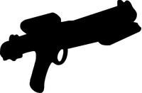 Star Wars Gun Decal / Sticker 03