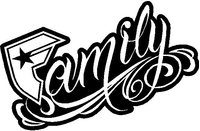Famous Family Decal / Sticker